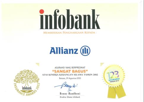 asuransi jiwa allianz infobank award