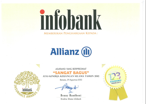 asuransi jiwa allianz infobank award